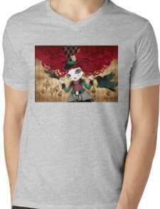 Mad Riddle Mens V-Neck T-Shirt