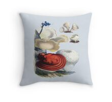 Fungi In The Woods (1864-1865) Throw Pillow