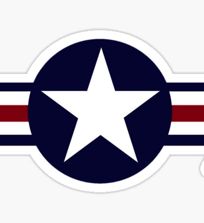 USA Fighter Logo Sticker