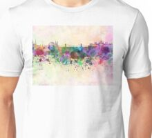 Budapest skyline in watercolor background Unisex T-Shirt