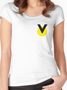 Space Pilot Helmet Victory Logo Yel Women's Fitted Scoop T-Shirt