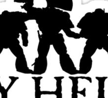 Say Hello to my Little Friends - Black Sticker