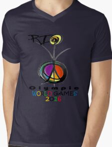rio 2016 Mens V-Neck T-Shirt