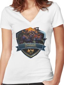 Pentakill Icon Women's Fitted V-Neck T-Shirt
