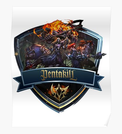 Pentakill Icon Poster