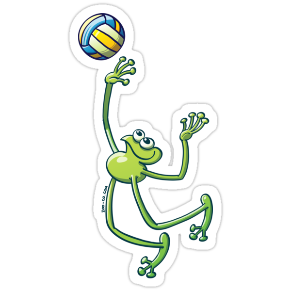 Volleyball Frog by Zoo-co