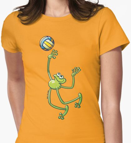 Volleyball Frog Womens Fitted T-Shirt