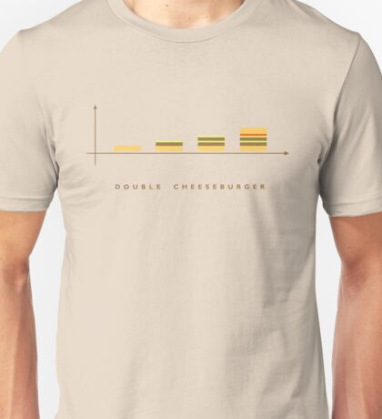 double cheeseburger bar chart Unisex T-Shirt