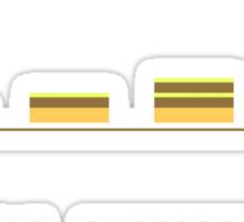 double cheeseburger bar chart Sticker