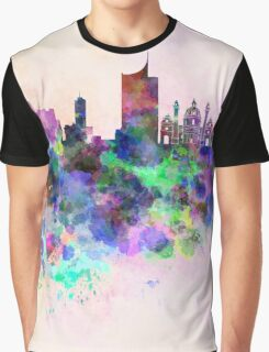 Vienna skyline in watercolor background Graphic T-Shirt