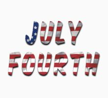 July Fourth Words With USA Flag Texture Baby Tee