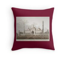 Mosque at Lucknow (1809) Throw Pillow