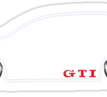 VW GTI MkV Silhouette  (light prnt) Sticker