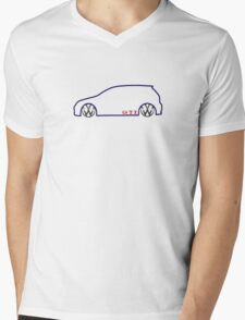VW GTI MkV Silhouette   (dark prnt) Mens V-Neck T-Shirt