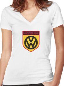 Fahrvergnugen (blk) Women's Fitted V-Neck T-Shirt