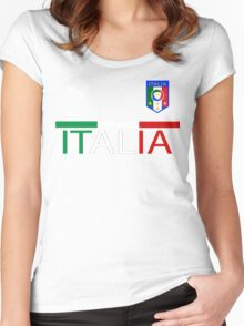 Euro 2016 Football Team Italy Women's Fitted Scoop T-Shirt