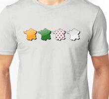 France in colors of the Tour de France jerseys Unisex T-Shirt