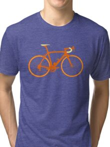 Bike Pop Art (Brown & Yellow) Tri-blend T-Shirt