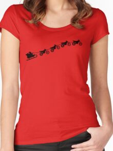 Christmas sleigh from flying dirt bikes Women's Fitted Scoop T-Shirt