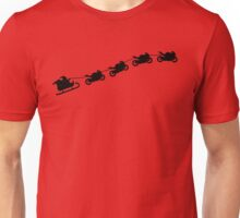 Christmas sleigh from flying motorcycles Unisex T-Shirt