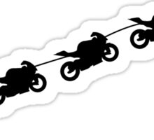 Christmas sleigh from flying motorcycles Sticker