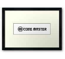 code master ninja programming Framed Print