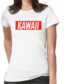 Kawaii Red Womens Fitted T-Shirt