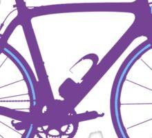 Bike Pop Art (Purple & Blue) Sticker