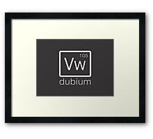 dubium (white) Framed Print