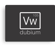 dubium (white) Canvas Print
