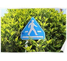 Pedestrian Crossing Sign - Japan Poster