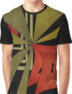 Beautiful modern geometrical ornamental red green black pattern texture Graphic T-Shirt
