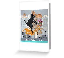 Amsterdam Bicycle Ride Greeting Card