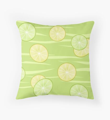 Colorful illustration . The Lemon & Lime.  Throw Pillow