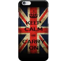 union jack keep calm and carry on phone case iPhone Case/Skin