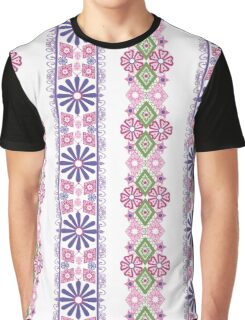 Seamless flowers pattern floral background Graphic T-Shirt