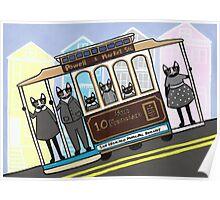 San Francisco Trolley Cats Poster