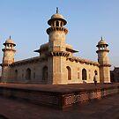 Agra, The Itmad-ud-Daulah Mausoleum at sunset by John Dalkin