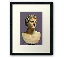 Vaporwave Roman Bust Framed Print