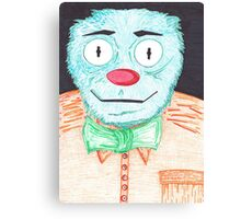 Blue Muppet Canvas Print