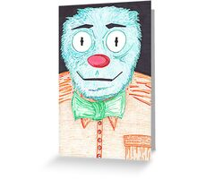 Blue Muppet Greeting Card