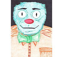 Blue Muppet Photographic Print