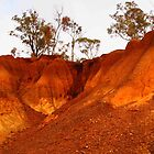 The Pink Cliffs - Heathcote VIC Australia by Margaret Morgan (Watkins)