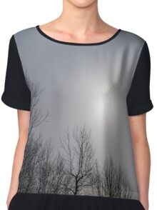 Sun Halo Through the Trees Chiffon Top