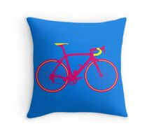 Bike Pop Art (Pink & Yellow) Throw Pillow