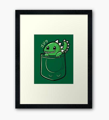 Monster in My Pocket Framed Print