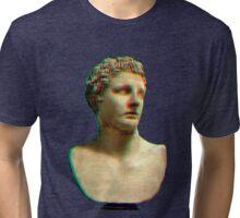 Vaporwave Roman Bust Tri-blend T-Shirt
