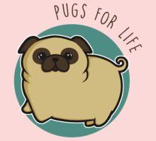 Pugs for life - fawn Kids Tee