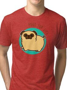 Pugs for life - fawn Tri-blend T-Shirt
