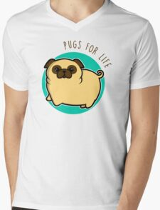 Pugs for life - fawn Mens V-Neck T-Shirt